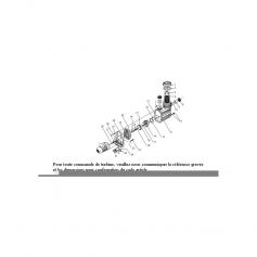 Vis de support moteur Eurostar 300-400 (6x55mm) - lot de 4