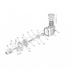 Support moteur de pompe Eurostar 75 à 250