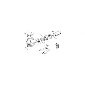 Couvercle + joint de pompe Hayward SP1800