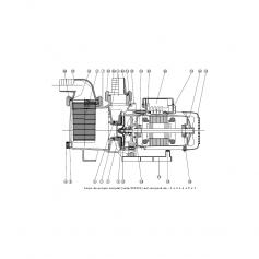 Vis corps de pompe de pompe Niper (8x25mm) - lot de 4