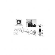 Boulons + rondelles (8mm)préfiltre pompe P2R,les 4