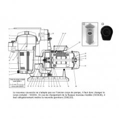 Barre de couvercle de préfiltre de pompe Tifon 1