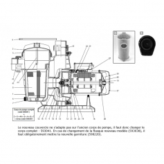 Joint avant d'axe moteur de pompe Tifon 1 (Ø16mm)
