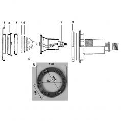 Collerette de projecteur halogène liner Cofies