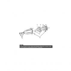 Joint torique / Projecteur halogène PH04, le set
