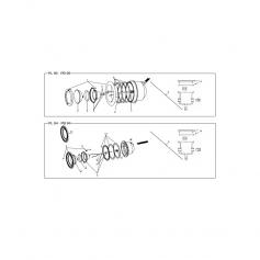 Clips plastique pour projecteur PL84C/PB84C, les 6