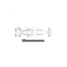 Joints et ecrou pour refoulement RL329-330, les 2