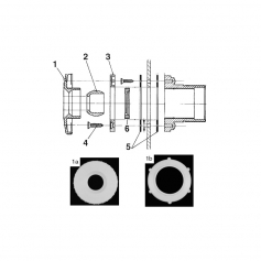 Rotule de refoulement liner SNTE (Ø22mm)