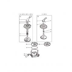 Dessus de vanne complet Hayward SP715 (2'')