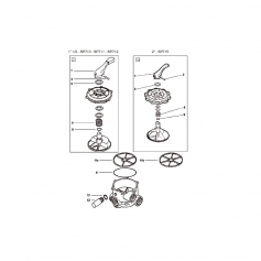 Joint de boisseau de vanne Praher (21x4mm) - lot de 2