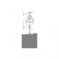 Rondelle supérieure de ressort de vanne Midas 4'' *