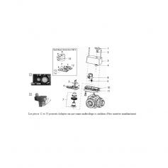 Moto réducteur de vanne 3 voies motorisée
