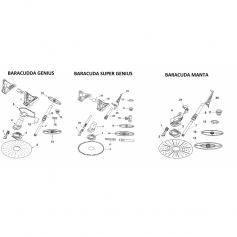 Grand déflecteur de balai Baracuda genius-manta
