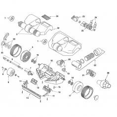 Roulement de roue frontale de balai Questa 2000 - lot de 2