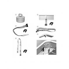 Sangle Deltalock/ Lame de 75 mm, les 3, blanc