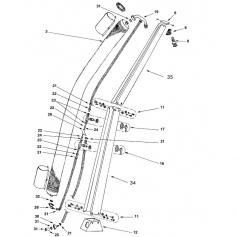 Raccord coudé nylon + écrou de douche Giordano