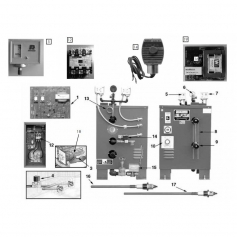 Résistance 12KW tri générateur vapeur CU500-1000*