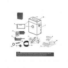 Moto-réducteur Aquamat 24 V/250Nm jusqu'à 1997*