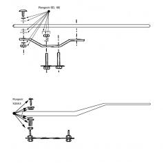 Accastillage de fixation/Plongeoir BEL 180