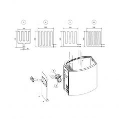 Résistance de poêle de sauna, 2670W230V *