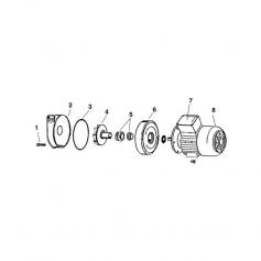Turbine ouverte de pompe Sirem (Ø107mm)
