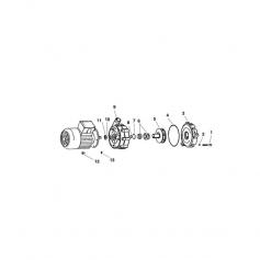 Vis de flasque de pompe Speck 21-40/55* - lot de 4