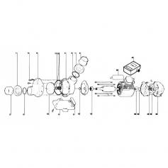 Ecrou de raccord PVC de pompe Tiper 2