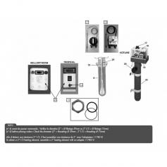 Résistance électrique Pahlen 9 Kw x 2'' - Incoloy