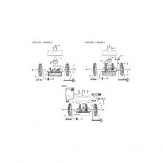 Tuyau blanc de robot Victor 2 roues-4 roues (1m)