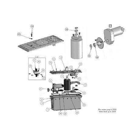 robot electrique clean and go bloc moteur