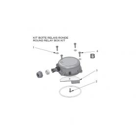 robot electrique lazernaut kit boite relais ronde