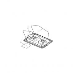 Tringle inox de porte filtre Lazernaut - lot de 2