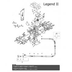 Tuyau d'alimentation de balai Legend II (1,85m)