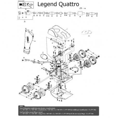 robot piscine Legend Quattro