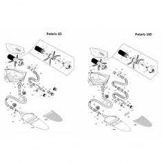 Raccord adaptateur 2'' prise paroi Polaris 65*