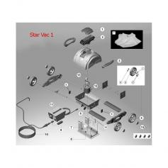 Cliquet de fixation porte filtre Star Vac II,les 2