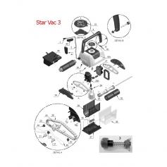 Clapet de porte filtre Star Vac III, Sunval,les 2*