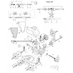 Vis et écrou d'essieu de grande roue Polaris 180 - lot de 2