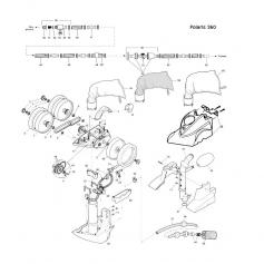 Rondelle d'essieu Polaris 380 - lot de 2