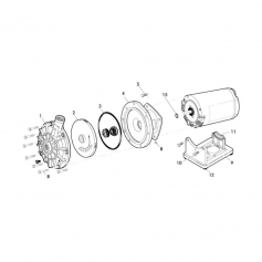 Boulon inox flasque/moteur de surpresseur Polaris - lot de 2