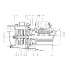 Rondelle d'axe de turbine surpresseur Multipool