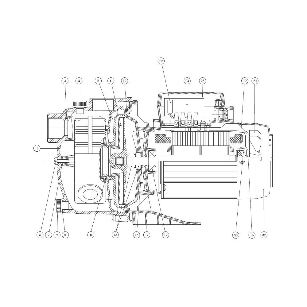 ventilateur moteur de surpresseur tema 1000