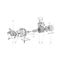 Stator de moteur de surpresseur jet inox Jetly