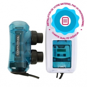 Pose d'un électrolyseur piscine par un professionnel