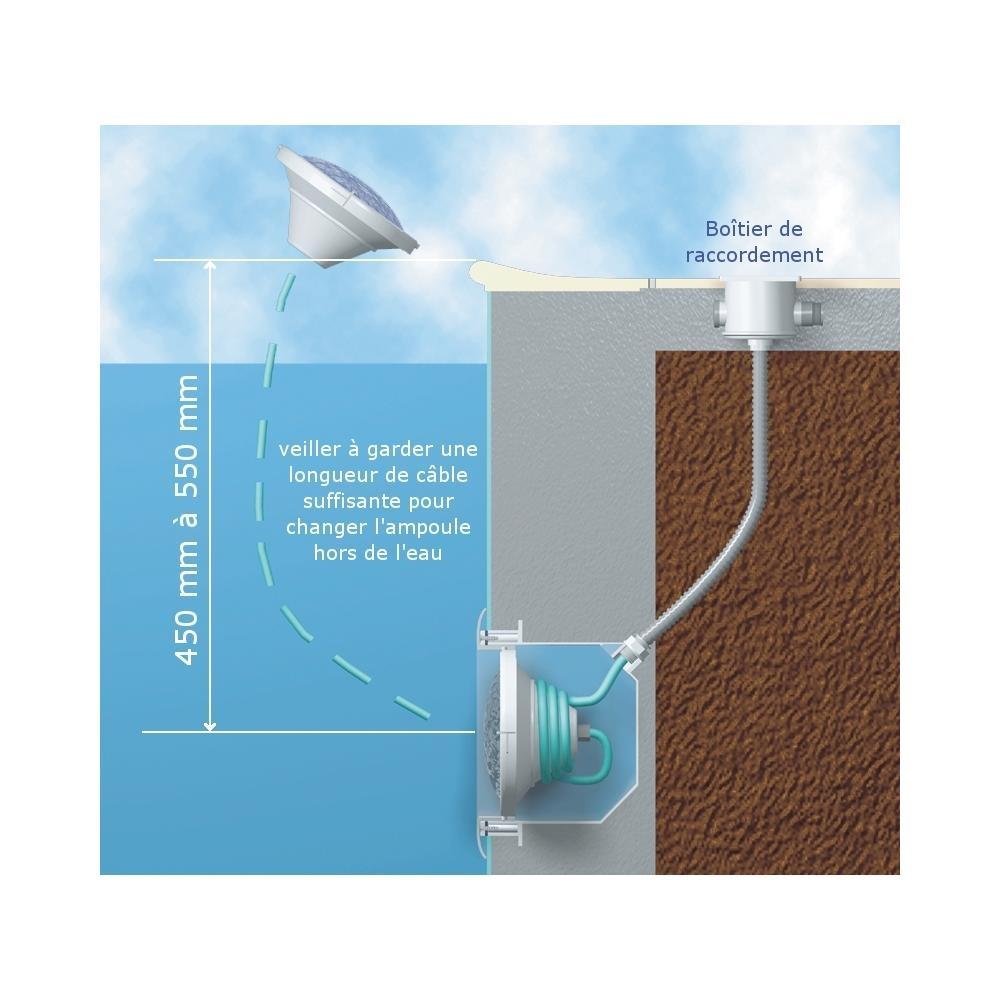 Projecteur piscine incandescence fixation par vis aquareva - Projecteur piscine hors sol ...