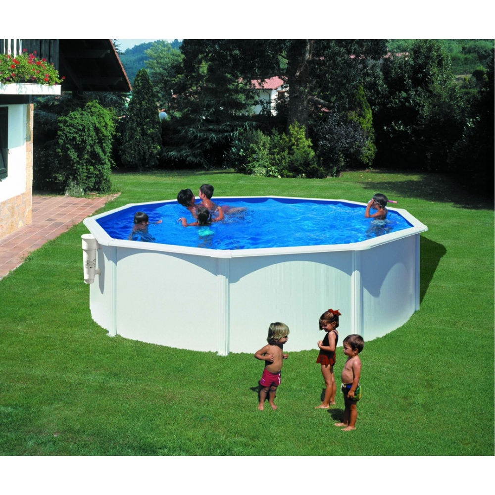 Piscine hors sol ronde gre mod le bora bora for Piscine hors sol imposable