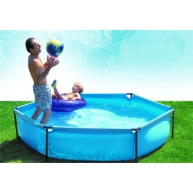 Piscine enfant hexagonale GRE modèle JET POOL Junior