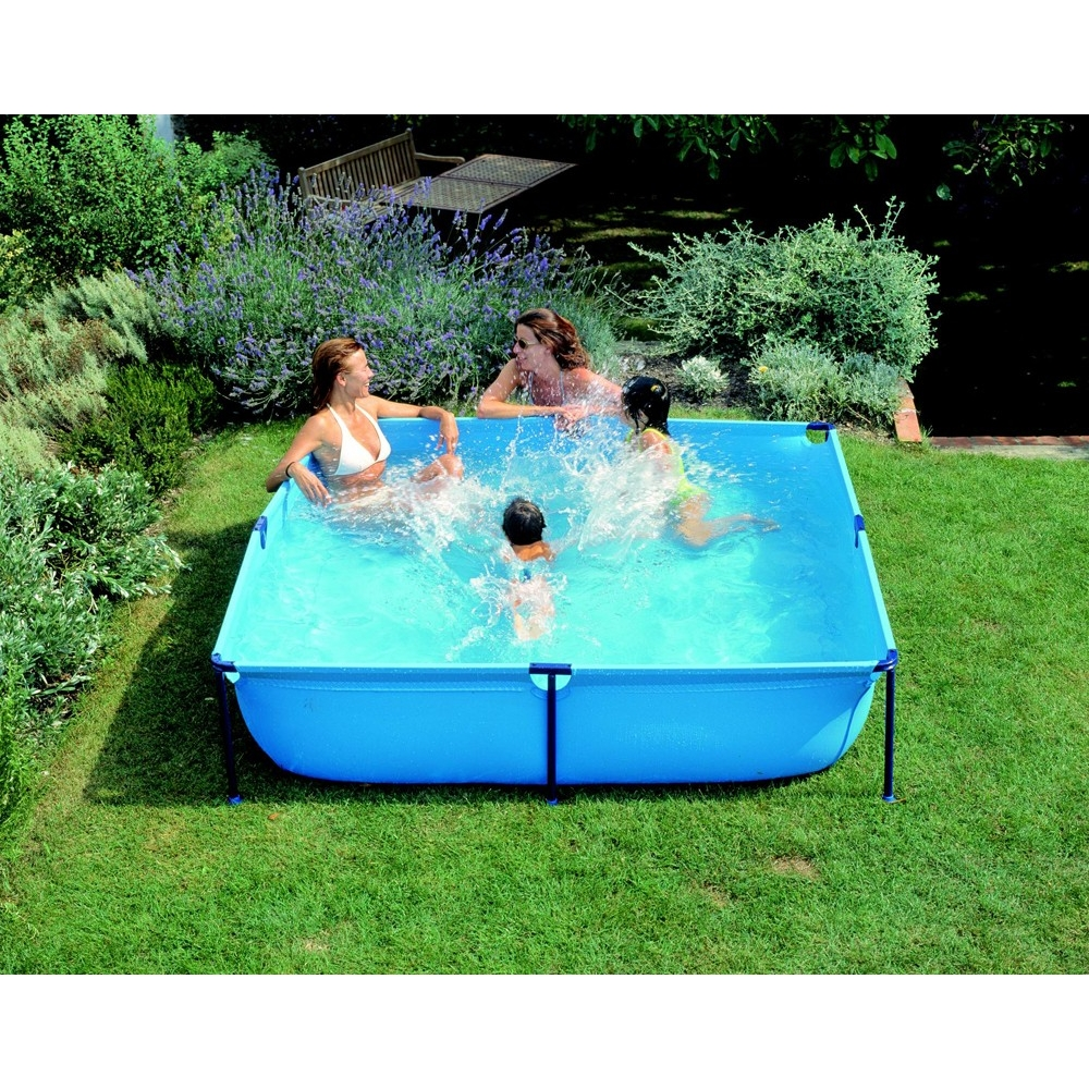 Piscine enfant carr e gre mod le jet pool junior for Piscine portable prix
