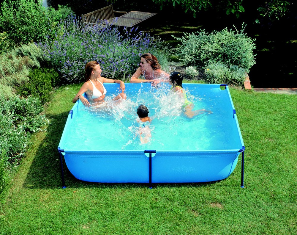 Piscine tubulaire enfant for Piscine gonflable rectangulaire pas cher