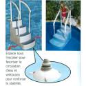 Escalier droit pour piscine Hors Sol